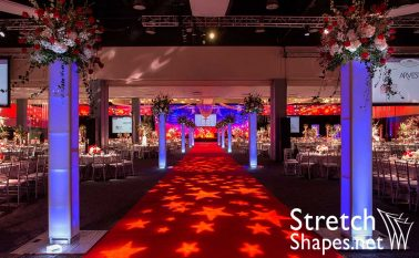 Red Carpet Gala USA Truss Wrap Spandex IFR