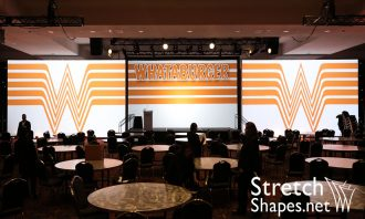 Stretch Shapes can print on any size Truss Wrap Projection Screen