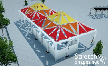 temporary architecture structures
