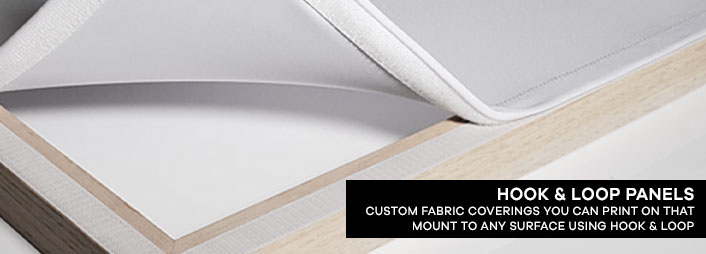 Hook and Loop Panels: Custom Fabric Coverings You Can Print On That Mount to Any Surface Using Hook and Loop