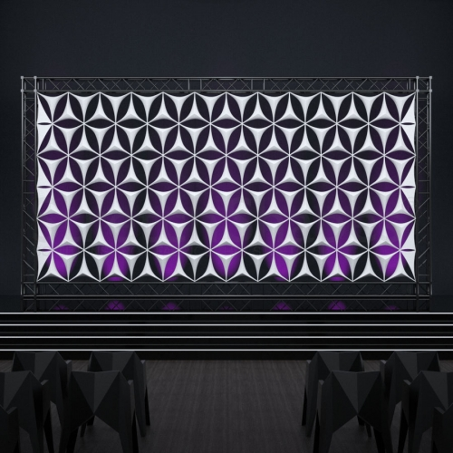3d triangle backdrops