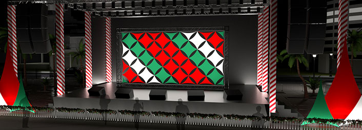 Custom Holiday Event Decor. Perfect For Holiday Stage Sets, Corporate Parties, And More!
